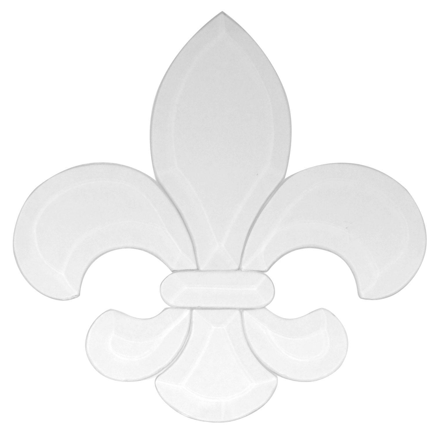 large fleur de lis bevel cluster traditional medium delphi glass
