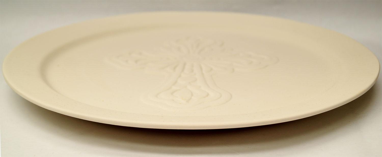 12 Quot Cross Plate Mold Platter Delphi Glass