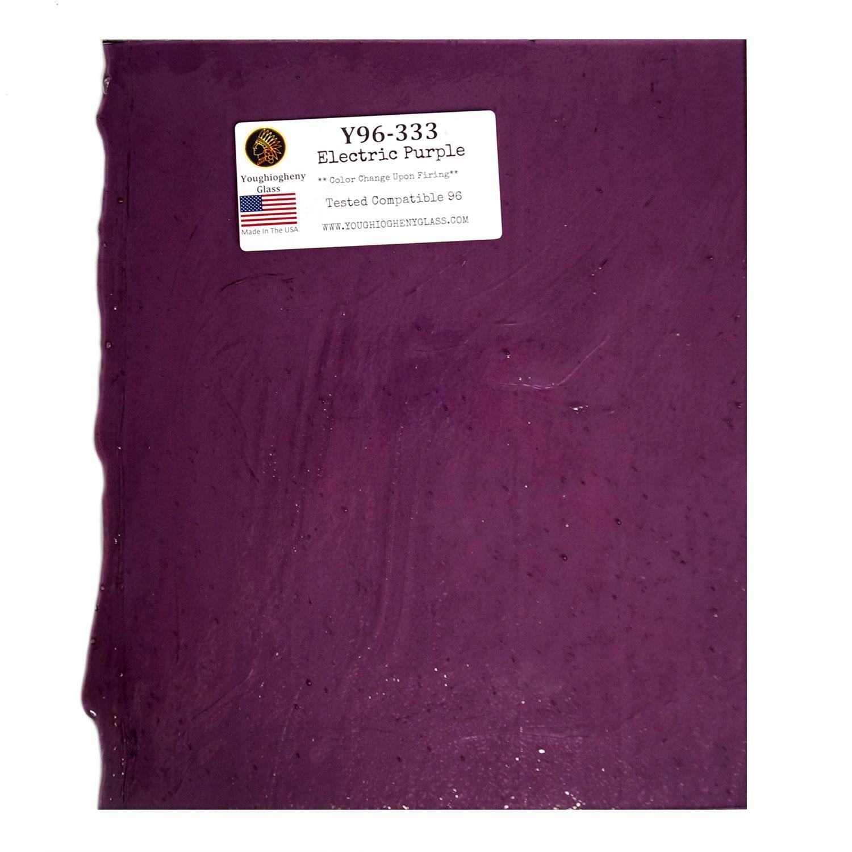 Y 96 Electric Purple Transparent 96 Coe Glass